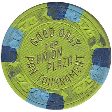 Union Plaza (NCV) (green) Pan Tournament chip