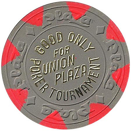 Union Plaza (NCV) (grey) Poker Tournament chip