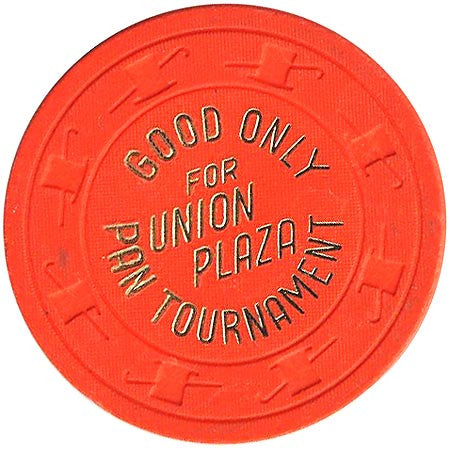 Union Plaza (NCV) (orange) Pan Tournament chip - Spinettis Gaming - 1