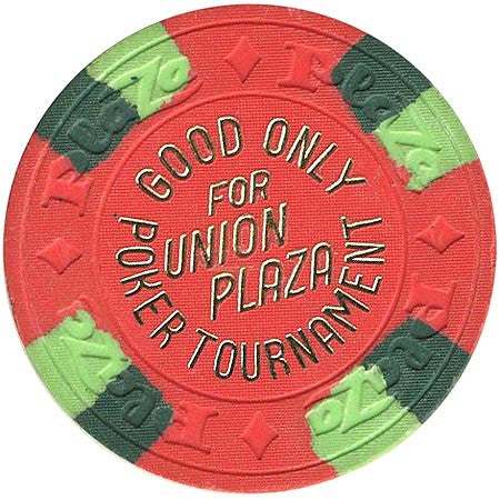 Union Plaza (NCV) (red) Poker Tournament chip