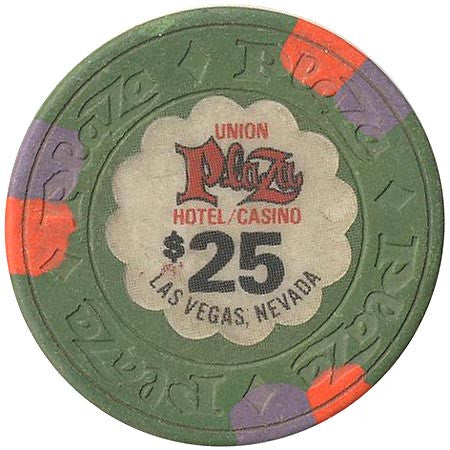 Union Plaza Casino Las Vegas NV $25 Chip 1980s