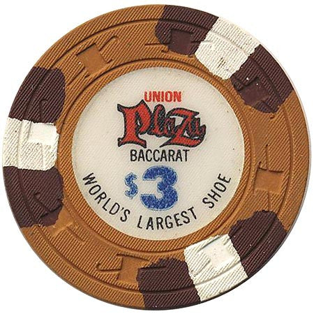 Union Plaza Casino Las Vegas NV $3 Chip 1975
