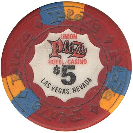Union Plaza Casino Las Vegas NV $5 Chip 1980s