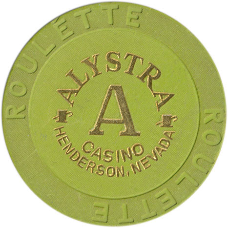 Alystra Casino Henderson NV Roulette A Lime Chip 1995
