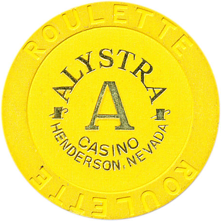 Alystra Casino Henderson NV Roulette A Yellow Chip 1995