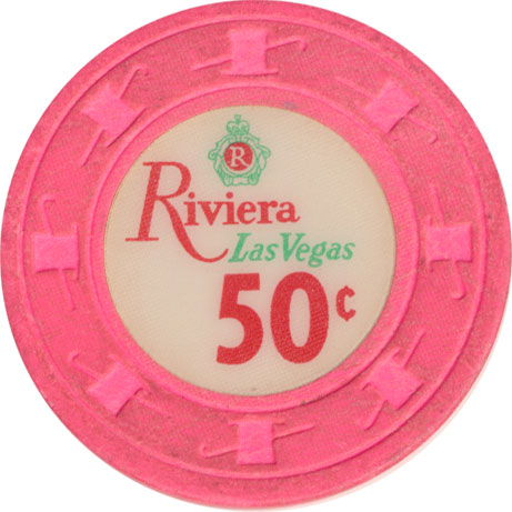 Riviera Casino Las Vegas NV 50 Cent Chip 1980s