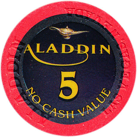 Aladdin Resort Las Vegas $5 NCV Chip 2001
