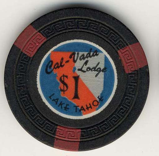 Cal Vada $1 (black 1948) chip - Spinettis Gaming - 1