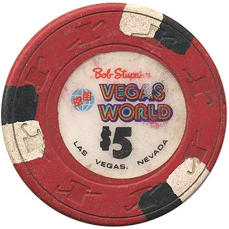Vegas World $5 (red) chip