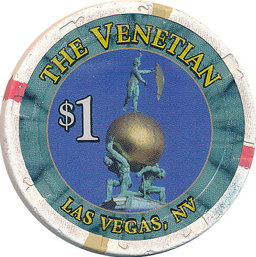 The Venetian Casino Las Vegas $1 Casino Chip Large Inlay - Spinettis Gaming