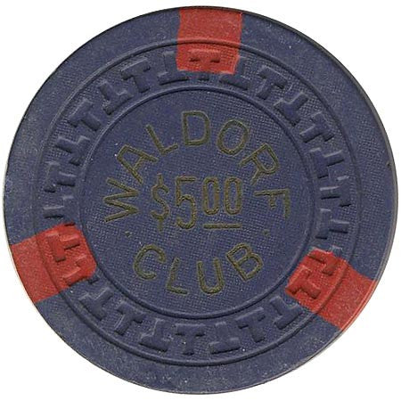 Waldorf Club $5 (blue) chip