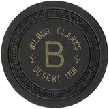 Desert Inn Wilbur Clark's B (black) Chip - Spinettis Gaming - 1