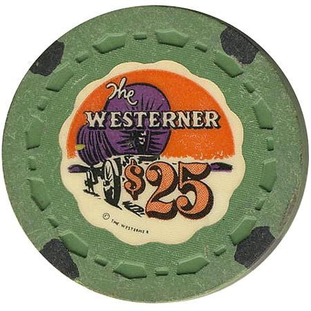 The Westerner $25 (green) chip