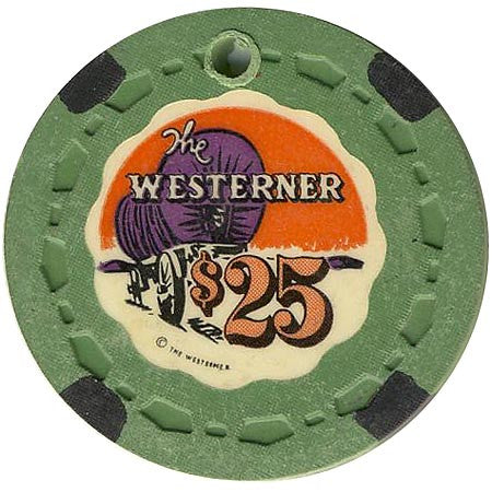 The Westerner $25 (canceled) (green) chip
