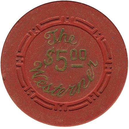 The Westerner $5 (red) chip