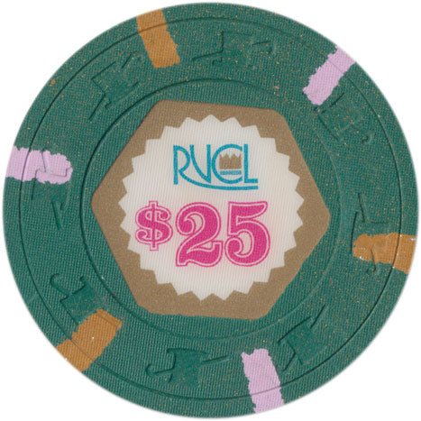 Royal Venture Cruise Line RVCL $25 Chip Brown/Lavender edge spots