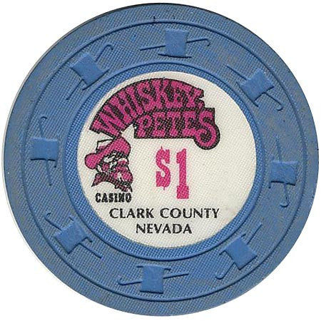 Whiskey Pete's $1 (blue) chip
