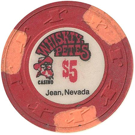Whiskey Pete's $5 (red) chip