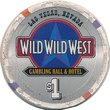 Wild Wild West Gambling Hall Las Vegas NV $1 Chip 1998