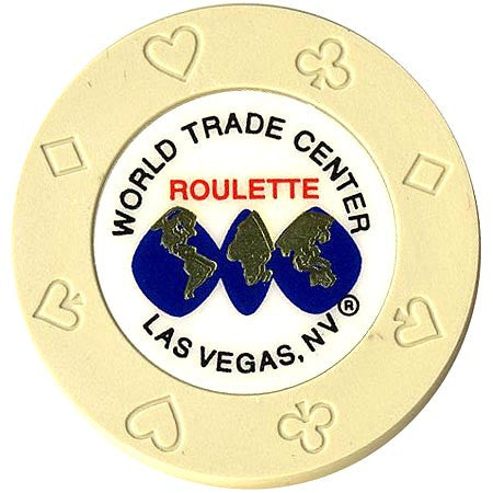 World Trade Center (cream) (roulette) chip