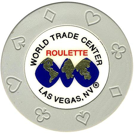 World Trade Center (gray) (roulette) chip