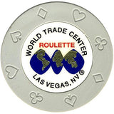 World Trade Center (gray) (roulette) chip - Spinettis Gaming - 2