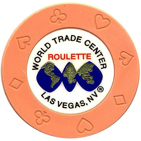 World Trade Center (orange) (roulette) chip