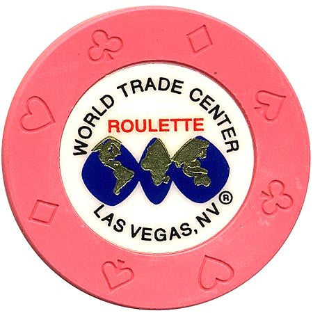 World Trade Center (pink) (roulette) chip