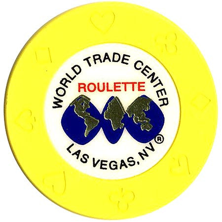 World Trade Center (yellow) (roulette) chip