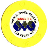 World Trade Center (yellow) (roulette) chip - Spinettis Gaming - 1