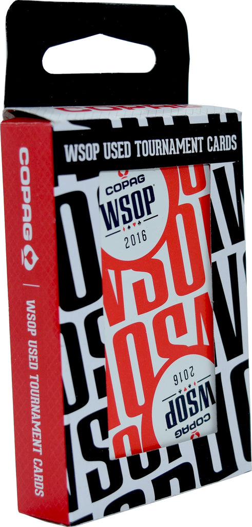 Authentic Deck Dealt at WSOP Final Table Red Used Copag Plastic Playing Cards Bridge Standard Index