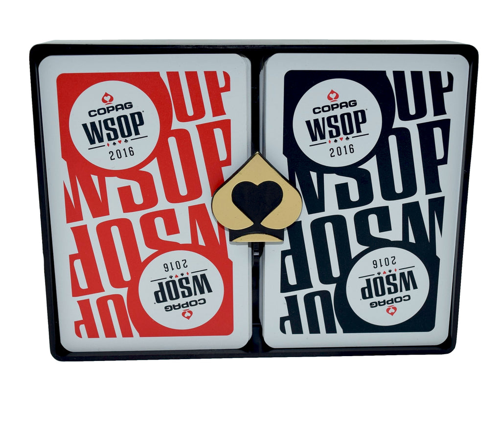 Set of 2 Authentic Decks Dealt at WSOP Final Table  Used Copag Plastic Playing Cards
