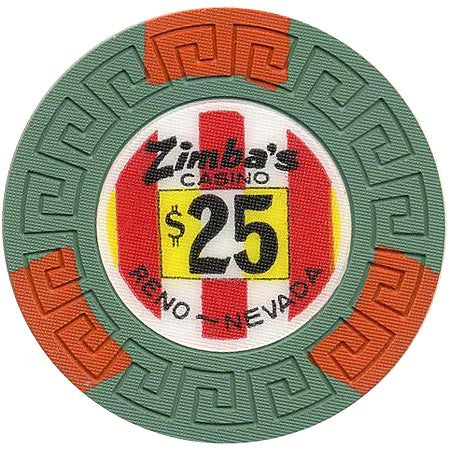 Zimba's Casino Reno $25 chip (1971)
