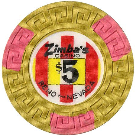 Zimba's Casino Reno $5 chip (1971)