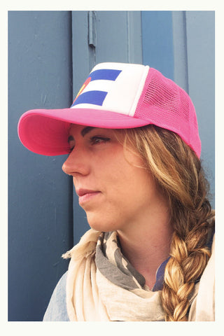 Colorado Flag | Trucker Hat - Pink - Skyflower Boutique