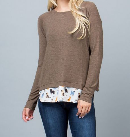 Cat Knit Sweater - Skyflower Boutique