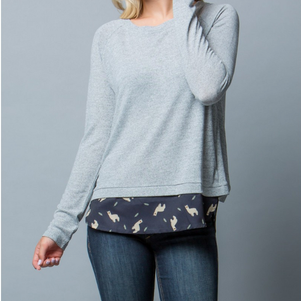 Knit Lama Sweater - Skyflower Boutique