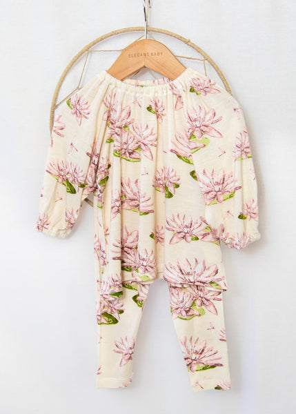 Water Lilly Dress & Legging Set