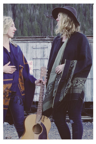 Reversible Southwest Poncho - Skyflower Boutique