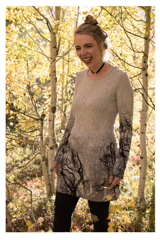 Day in the Woods | Tree Sweater Dress - Skyflower Boutique