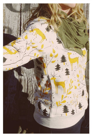 Boutique Deer Print Sweatshirt - Skyflower Boutique