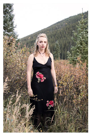 Flowers at Midnight Dress - Skyflower Boutique