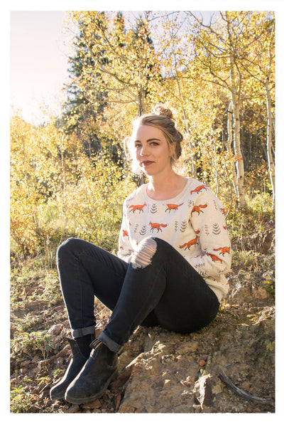 Best-Selling Fox Print Sweatshirt - Skyflower Boutique
