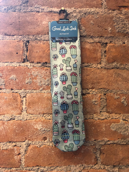 Cool as a Cactus Sock - Skyflower Boutique