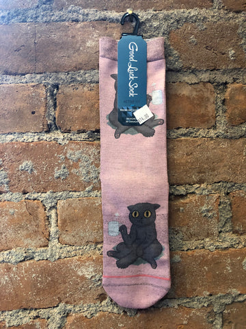 Grumpy Coffee Cat Socks - Skyflower Boutique
