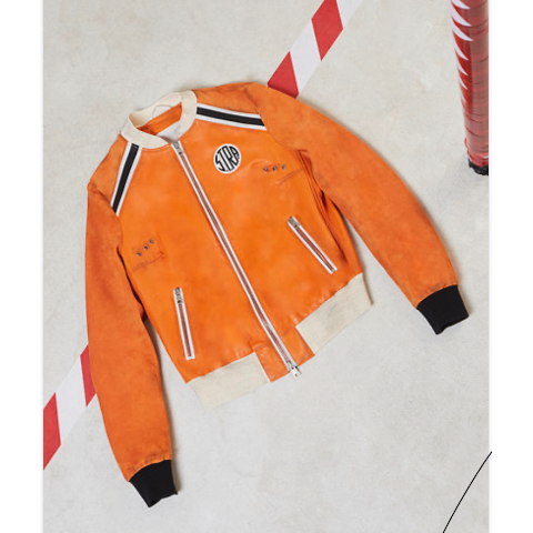 S.T.R.A. Superb Suede Jacket Orange Pumpz