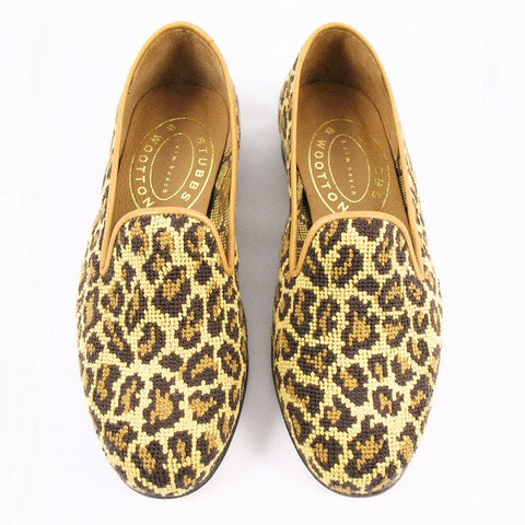 Stubbs & Wootton True Jane Needlepoint Loafer in Animal Print