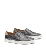 Trask Lillian Sneaker in Pewter Camo Metallic Suede