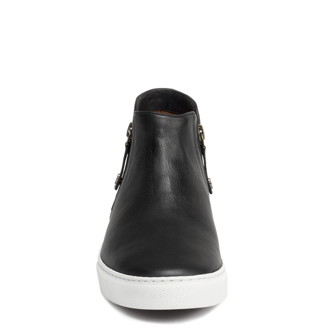 Trask Lana Sneaker Bootie in Black Leather