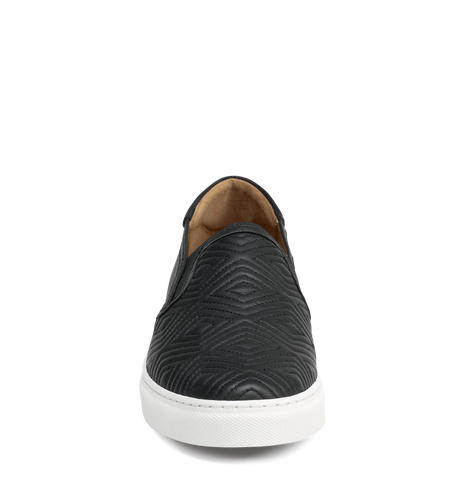 Trask Linda Quilted Black Sneaker